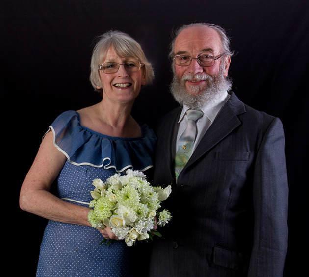 結婚38周年の老夫婦