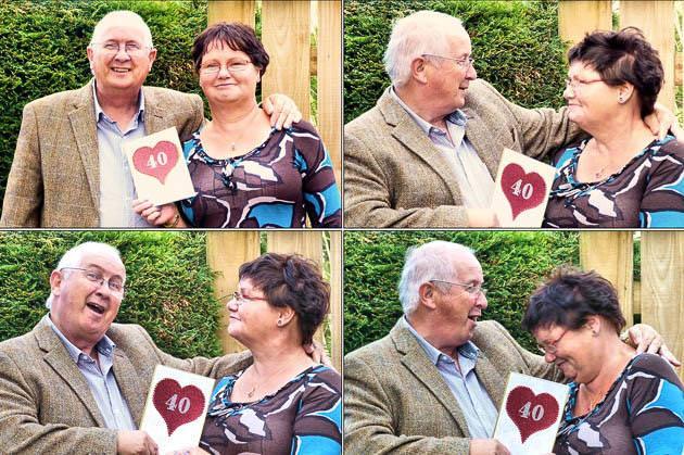 結婚40周年の老夫婦