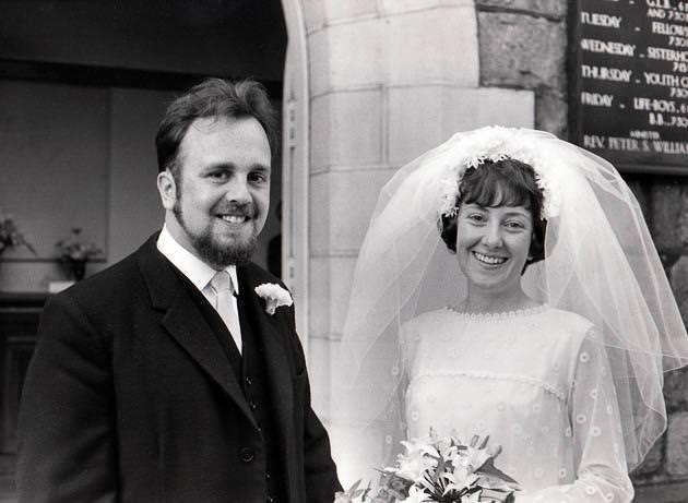 老夫婦の結婚当初