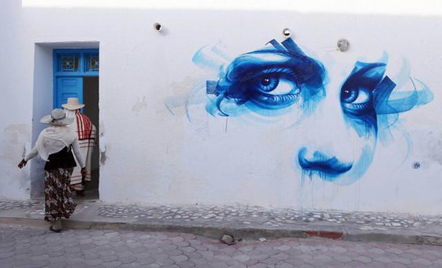 フランス人の描いたストリートアート:横顔