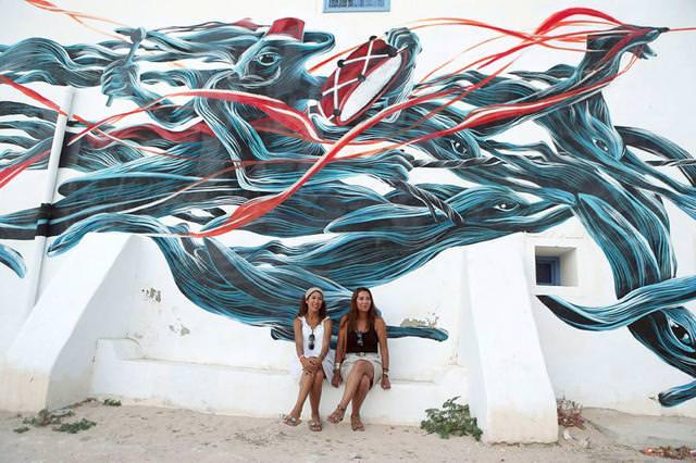 ポルトガル人の描いたストリートアート