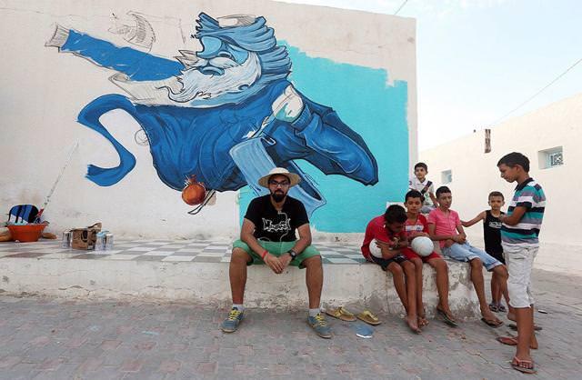 サウジアラビア人の描いたストリートアート:海賊