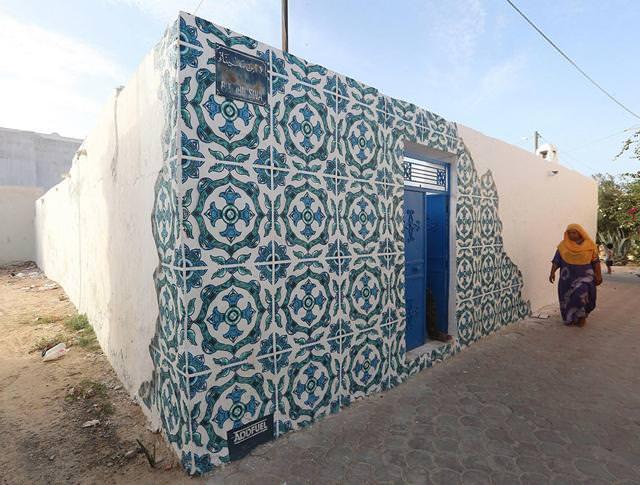 ポルトガル人の描いたストリートアート:美しい壁模様
