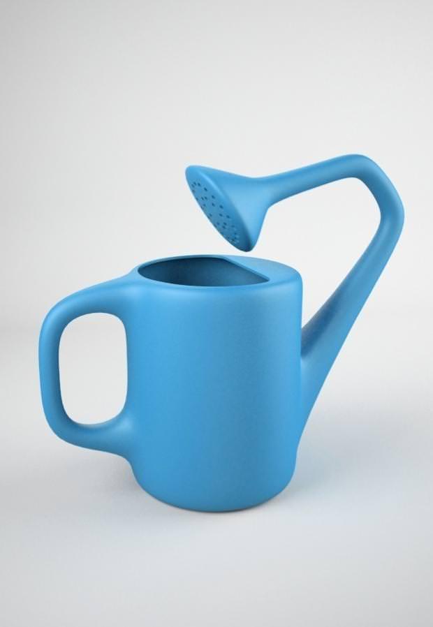 不便なデザイン:水を注いだら大変なことになりそうな、斬新すぎるジョウロ