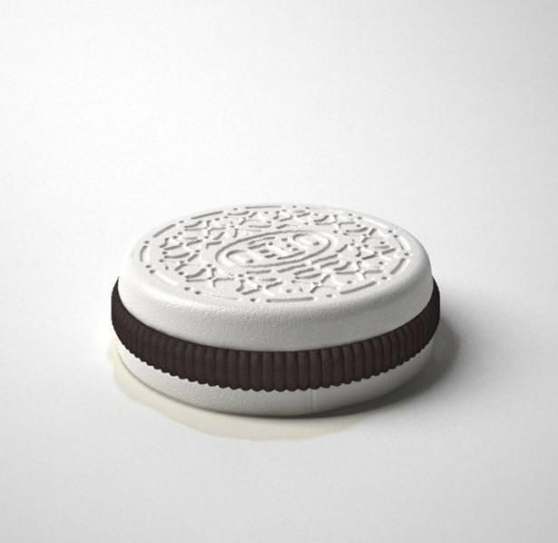 不便なデザイン:クリームでビスケットを挟んだオレオ(クッキー)