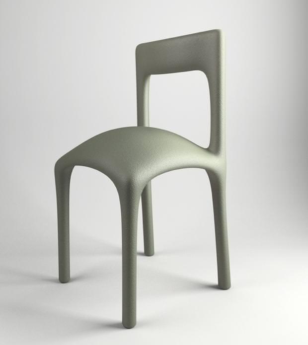 不便なデザイン:座り心地が超絶に悪い、真ん中部分が盛り上がったイス