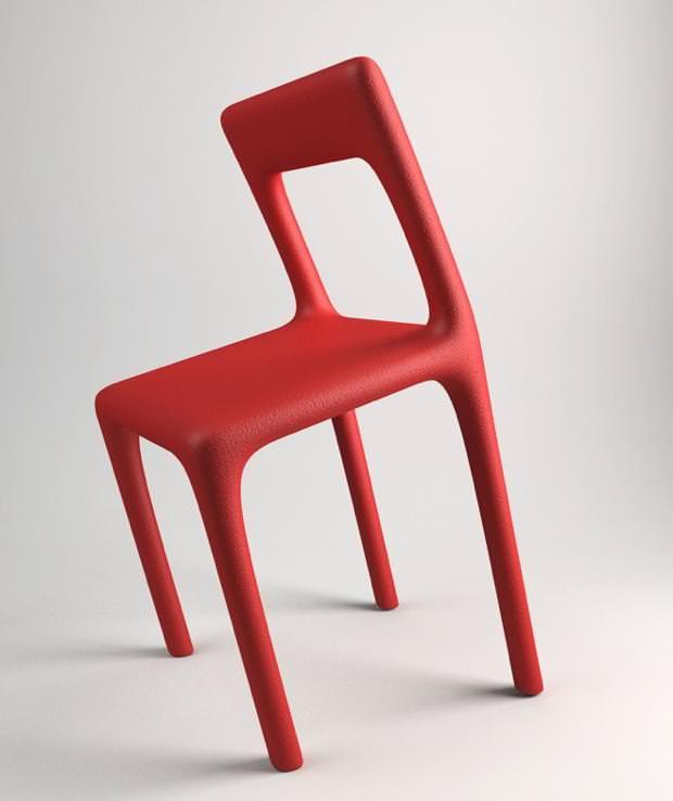 不便なデザイン:座り心地が超絶に悪い、傾いたイス