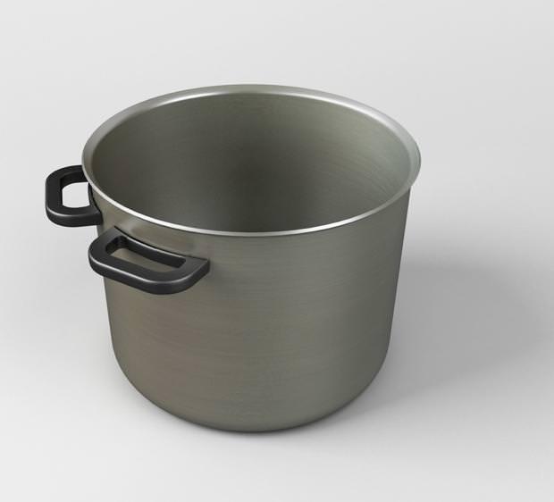 不便なデザイン:持ち上げると中身をこぼしてしまいそうな鍋