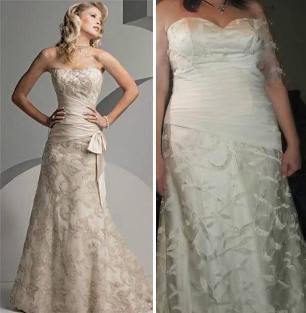 ウェディングドレスの失敗例:モデルみたいに美しくなれない