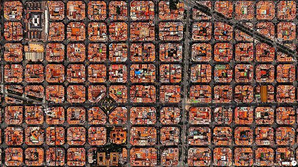 バルセロナの航空写真(衛星写真)