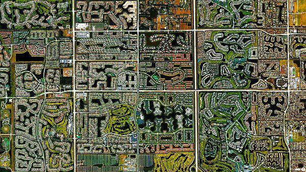 フロリダ州ボカラトンの航空写真(衛星写真)