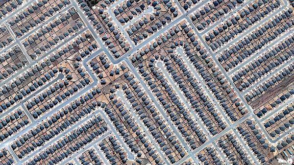 テキサス州キリーンの航空写真(衛星写真)