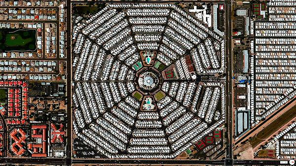 Venture Out RV Resortの航空写真(衛星写真)