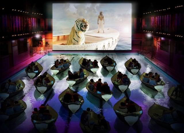 世界最大級の映画館:「ライフ・オブ・パイ - トラと漂流した227日」の特別試写会