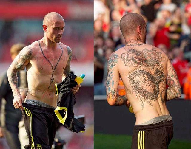 タトゥーが印象的なサッカー選手-ラウル・メイレレス