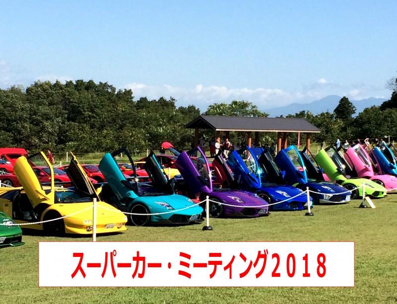 幻の車「ランボルギーニLP500」が復活!?スーパーカーミーティング2018山形