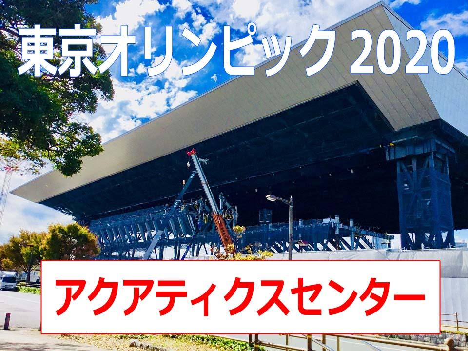 アクアティクスセンター工事現場リポート【画像あり】屋根はなんと7000t!