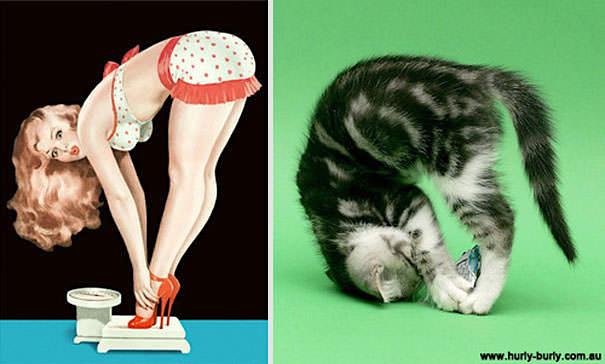 動物にそっくりな女性モデル画像25選【ポーズや仕草が瓜二つ】