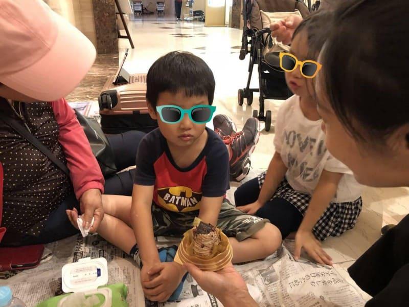 台風21号の被害にあった関西国際空港で誕生日