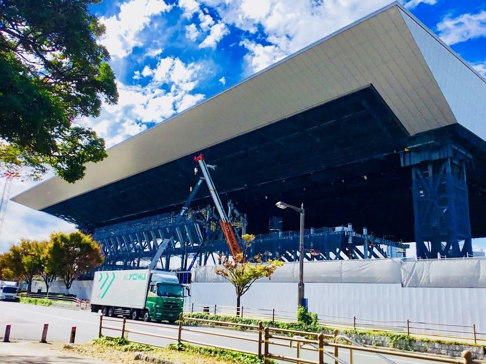 工事中のアクアティスセンター