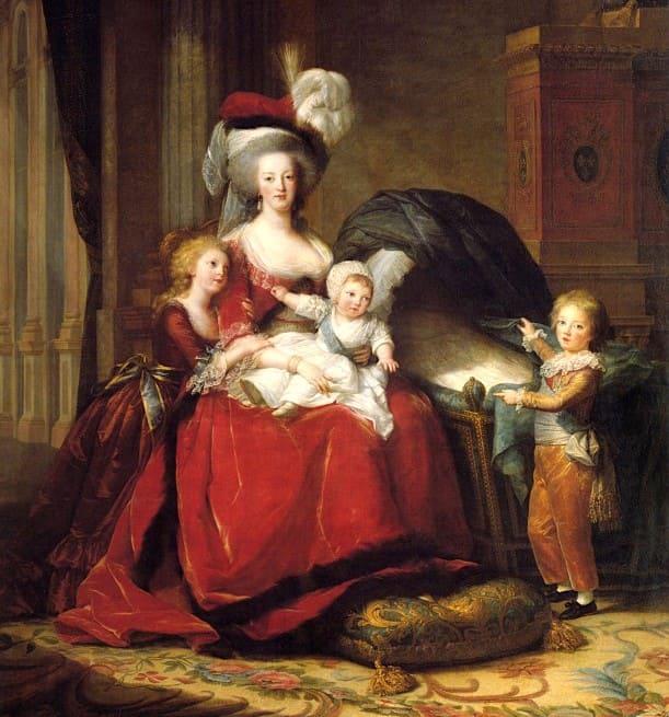 マリー・アントワネットと子供たち-ルブラン