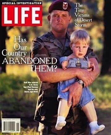 湾岸戦争症候群-犠牲者親子-ライフ誌表紙
