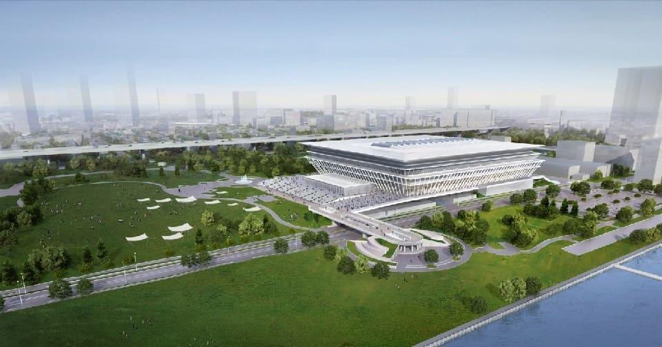 オリンピックアクアティクスセンター完成予想図