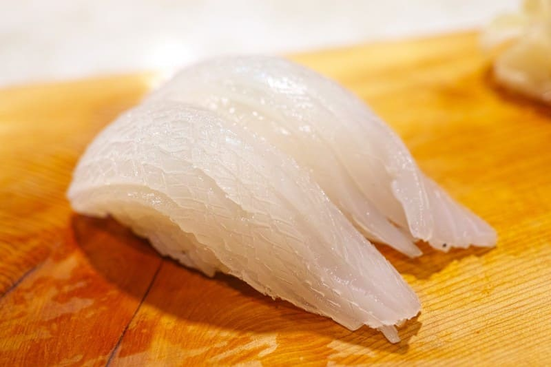 イカの寿司(刺身)