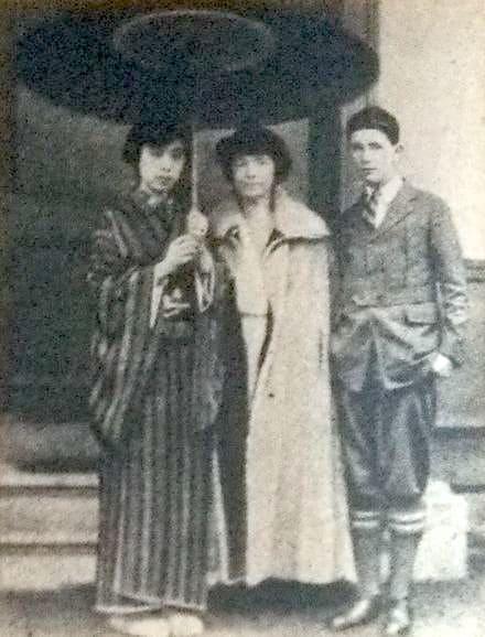 サンガー夫人来日、石本静江と息子と
