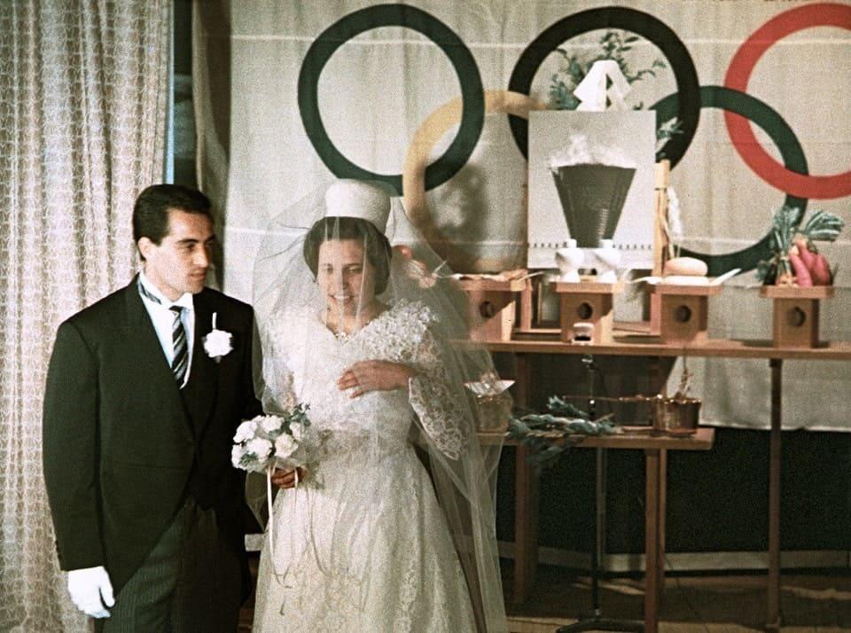 1964年東京オリンピック選手村での結婚式