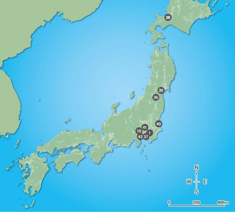東京オリンピック サッカー会場マップ
