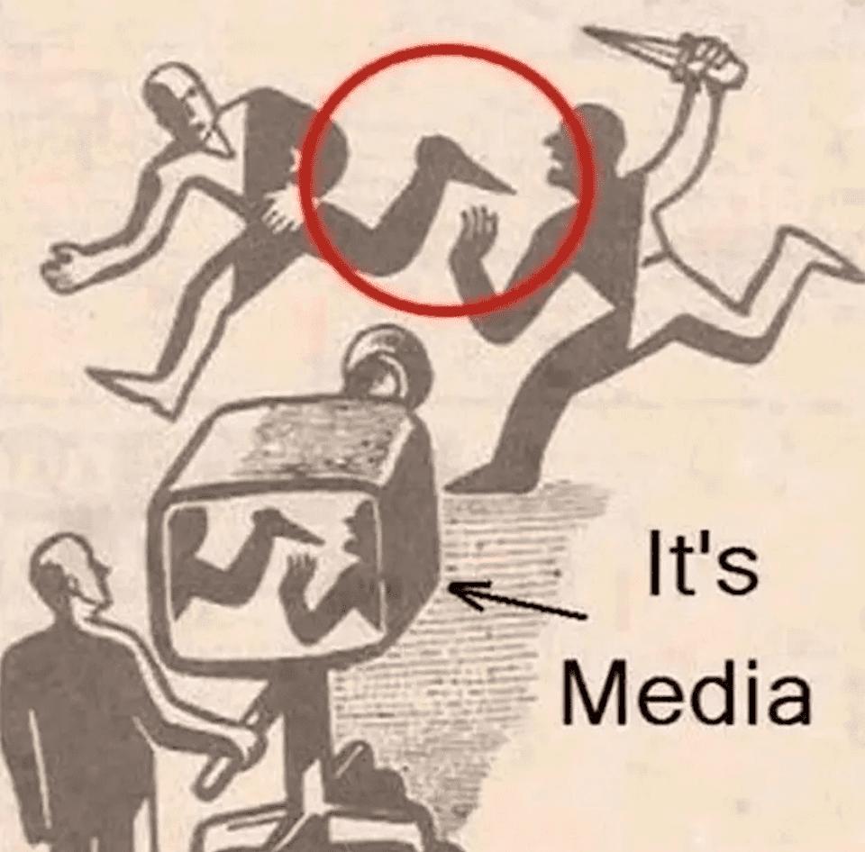 メディアの印象操作・偏向報道の風刺画