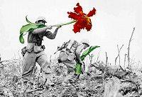 銃 花を咲かせる・平和 願い